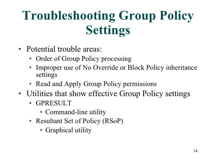 Chapter09 Implementing And Using Group Policy