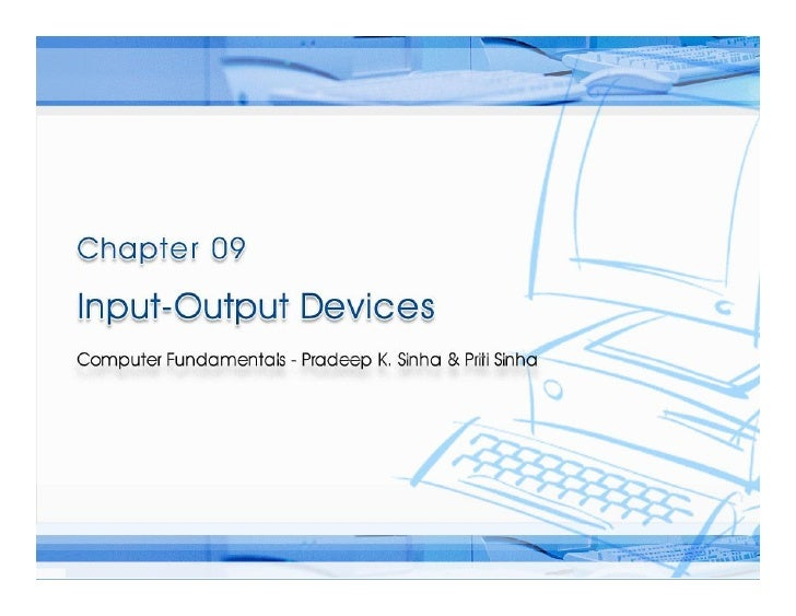 Chapter 09 io devices