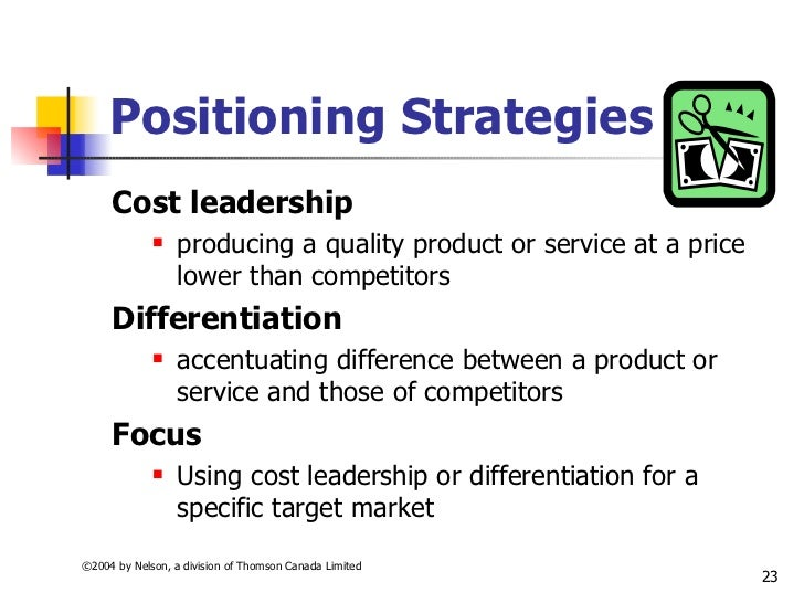 compare between cost leadership vs product differentiation