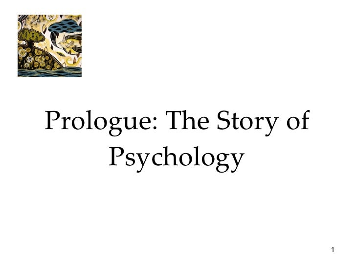 Prologue: The Story of Psychology