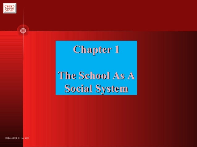 © Hoy, 2008, © Hoy 2003 Chapter 1Chapter 1 The School As AThe School As A Social SystemSocial System