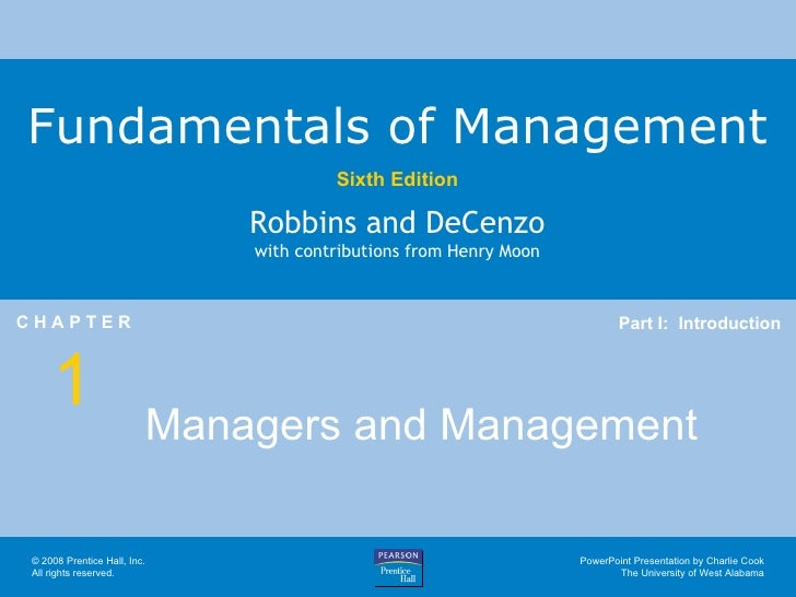 Managers and Management