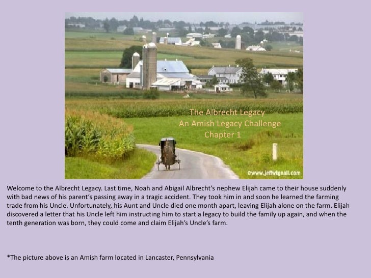 The Albrecht Legacy                                                             An Amish Legacy Challenge                 ...