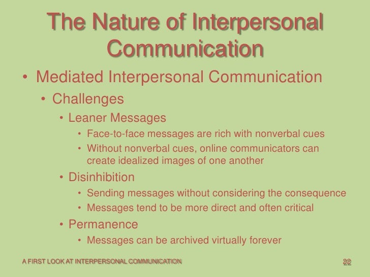 How does computer mediated communication affect interpersonal relationships