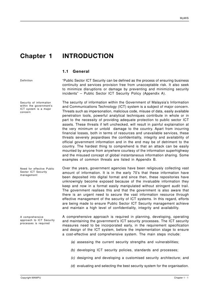 MyMIS     Chapter 1                   INTRODUCTION                              1.1    General  Definition                ...