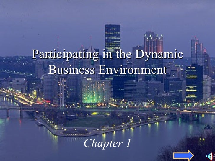 Participating in the Dynamic Business Environment Chapter 1