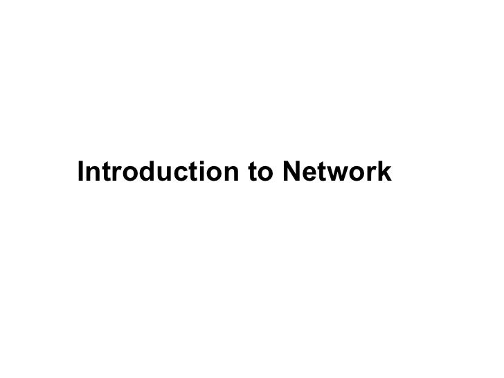 Introduction to Network                   CMC Limited