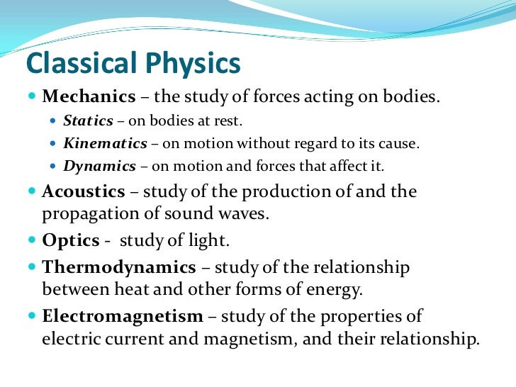 relationship between classical physics and modern ancient