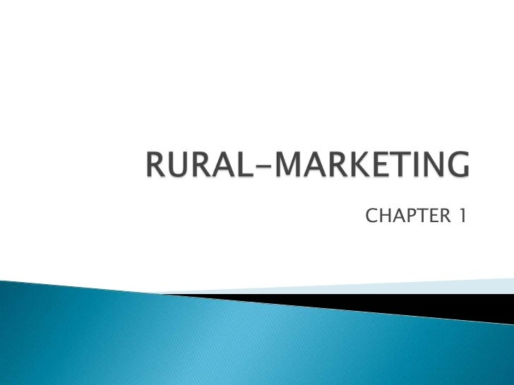 RURAL-MARKETING <br />CHAPTER 1                         <br />