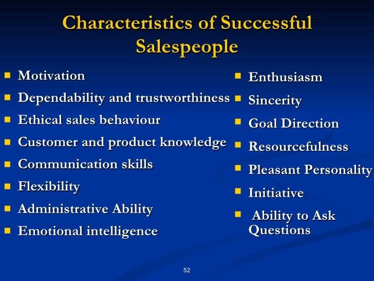 10 Characteristics of Successful Salespeople