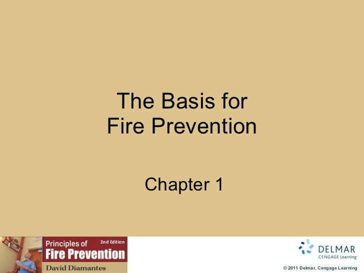 The Basis for Fire Prevention   Chapter 1
