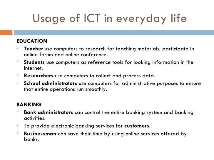 basics of ict Module 1 – concepts of information and communication technology (ict) this module of the computer driving licence syllabus focuses on the major.