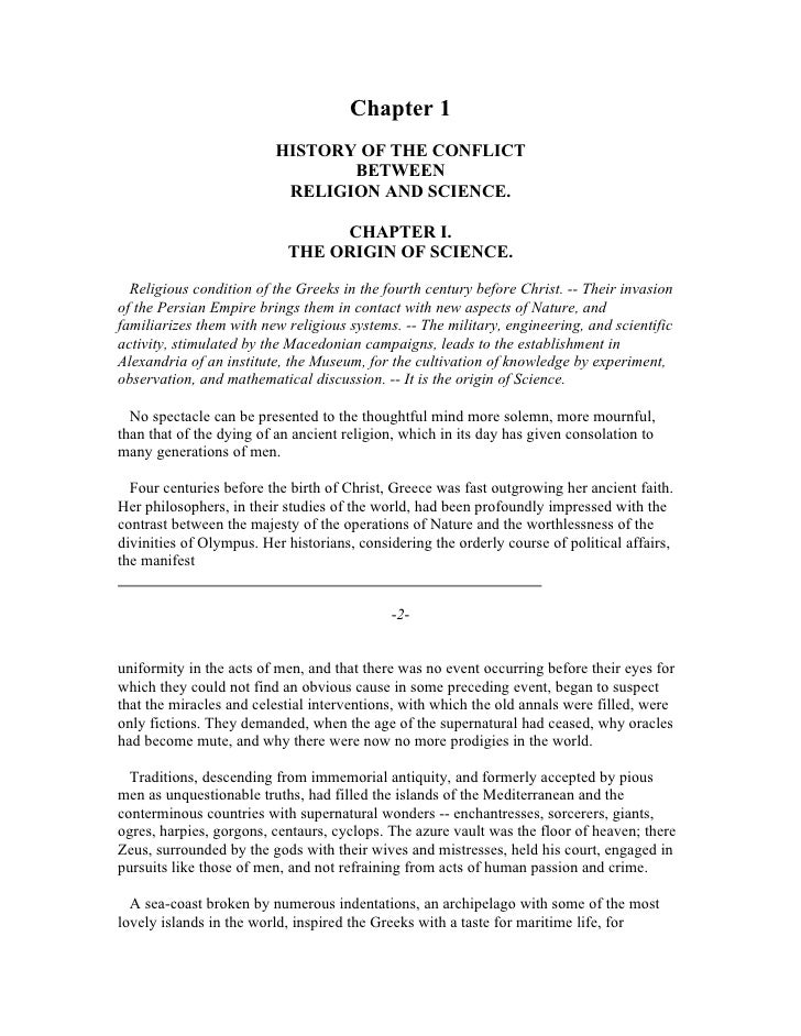 Chapter 1                         HISTORY OF THE CONFLICT                                BETWEEN                          ...