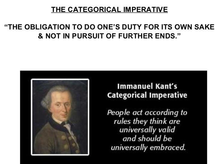 Categorical imperative vs utilitarianism