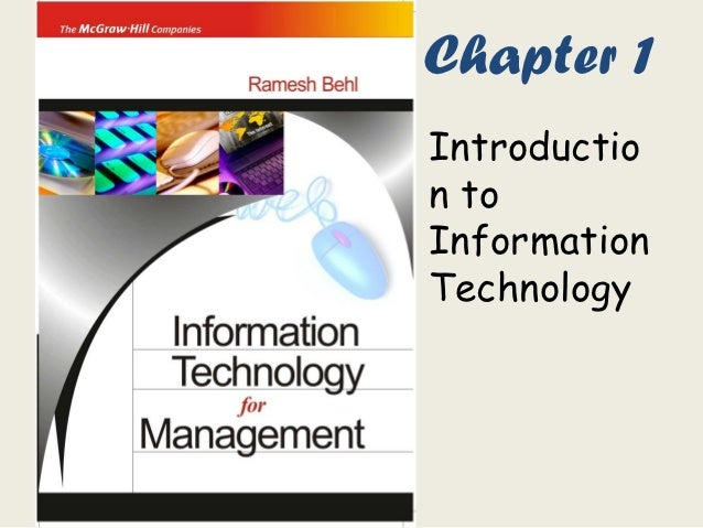 Chapter 1Introduction toInformationTechnology