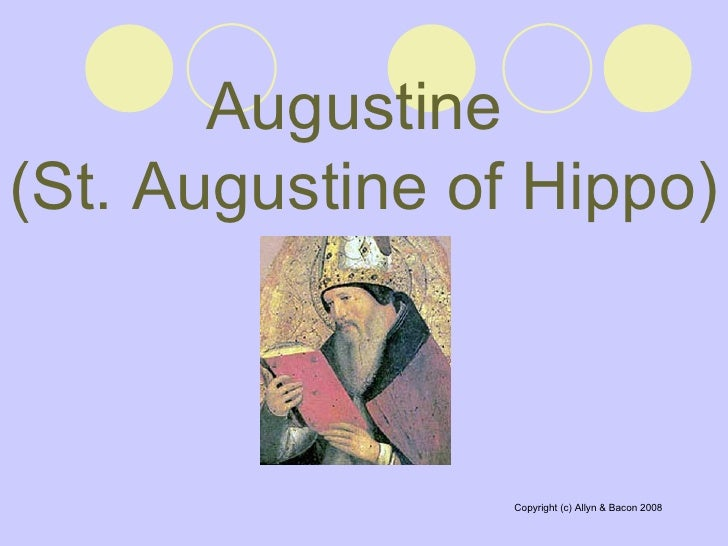 a chapter by chapter summary of st augustines confessions by augustine of hippo The life, writings, and teachings of saint augustine of hippo, located in present- day algeria  in his confessions, book eight, chapter 12, augustine speaks of  hearing the voice of a child  spirituality of religious community life can be found  in augustine's rule  the rule of st augustine was written around the year 400.