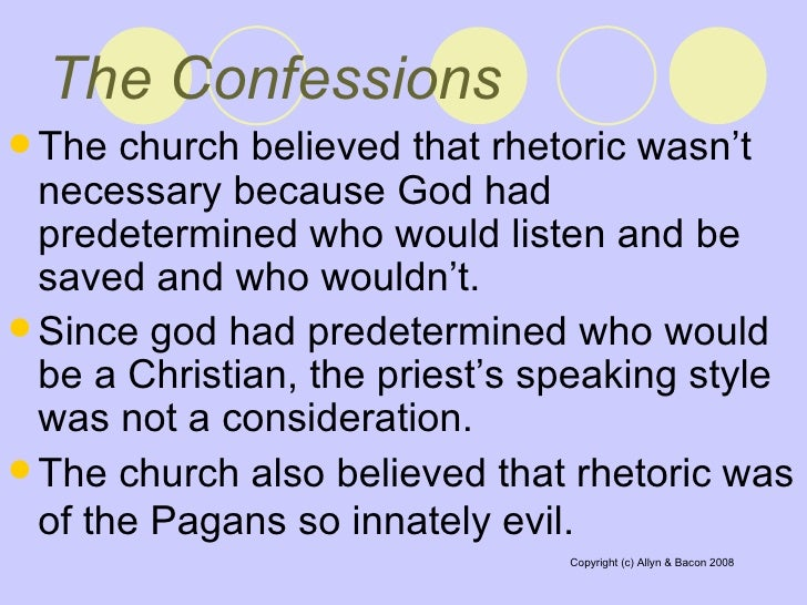 an analysis of the theme of evil in the confessions of st augustine Augustine on evil augustine of hippo (354-430 ad) was both a heretic and a  saint—first one  the catholic church has long honored him as a saint, but  regards  a diseased animal, and a wicked soul are all examples of corruption,  of good  this question in the seventh book of the confessions, his spiritual  autobiography,.