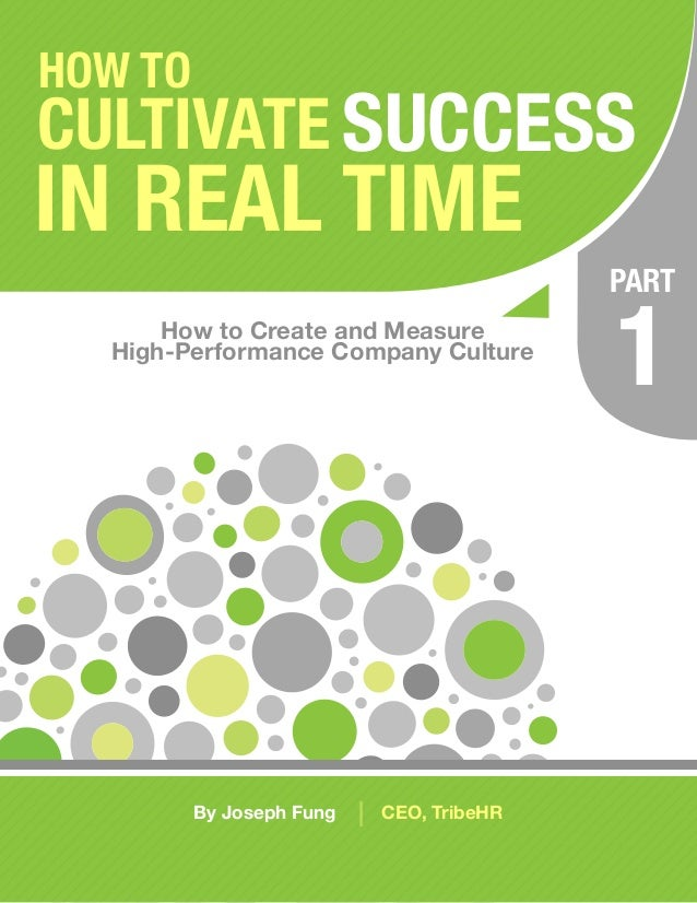 HOW TOCULTIVATE SUCCESSIN REAL TIME                                             PART      How to Create and Measure  High-...