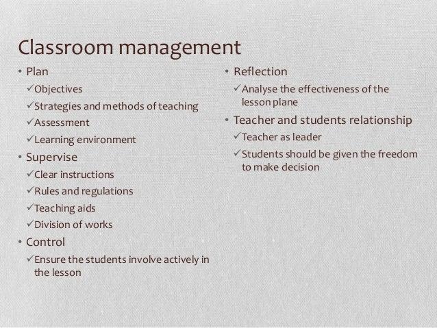 Classroom Management E  A
