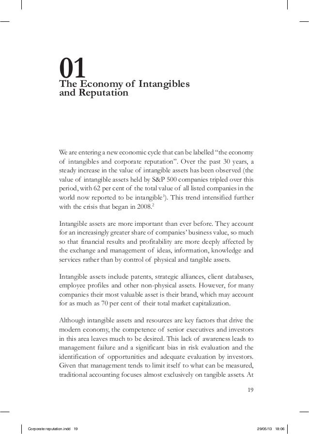 """1901The Economy of Intangiblesand ReputationWe are entering a new economic cycle that can be labelled """"the economyof intan..."""