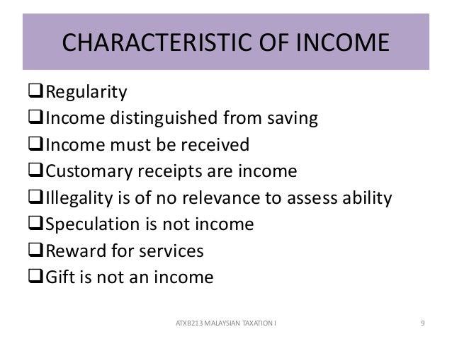 characteristics of tax