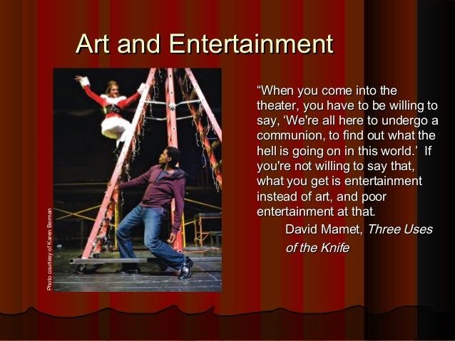 Chapter 1: Theatre, Art, and Entertainment