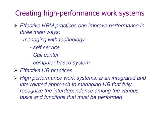 hrm practices call center Impact of technology advancement on human resource performance  information technology, human resource management practices are changed the present paper.