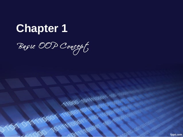 Chapter 1  Basic OOP Concept