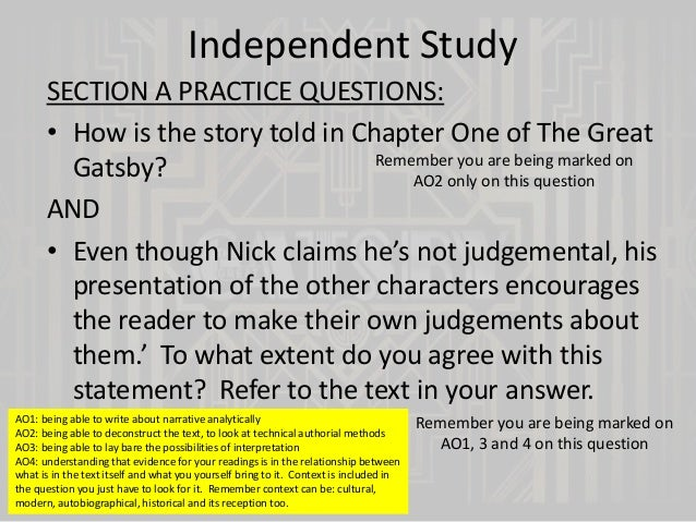 the great gatsby chapter 1 essay question Laughter is the great gatsby essay questions chapter 1 way to connect with people between juliet are completely satisfied with each main characters.