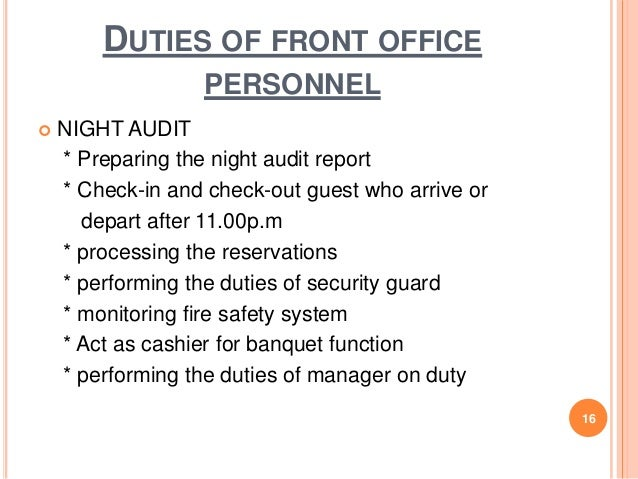 Chapter 1 front office practice 15 duties of front office personnel 16 altavistaventures Images