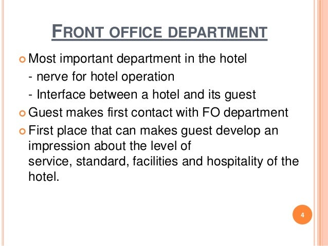Chapter 1 Front Office Practice