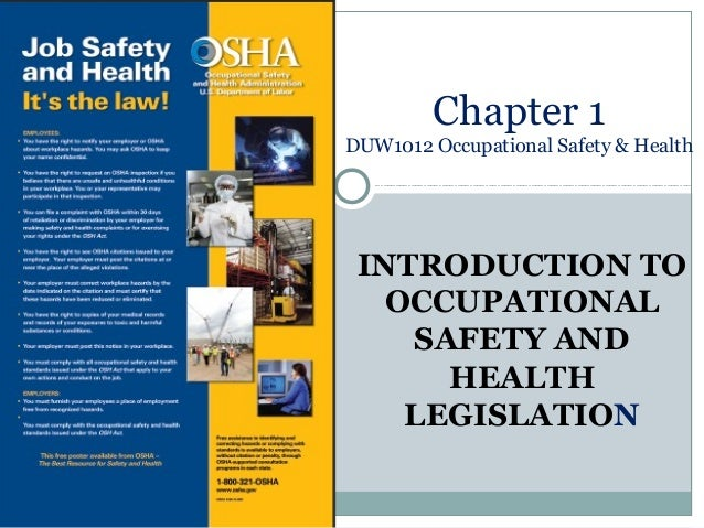introduction to health and safety essay Workplace health and safety is important to keep employee morale positive and improve productivity the department of labor oversees the workplace safety standards laws.