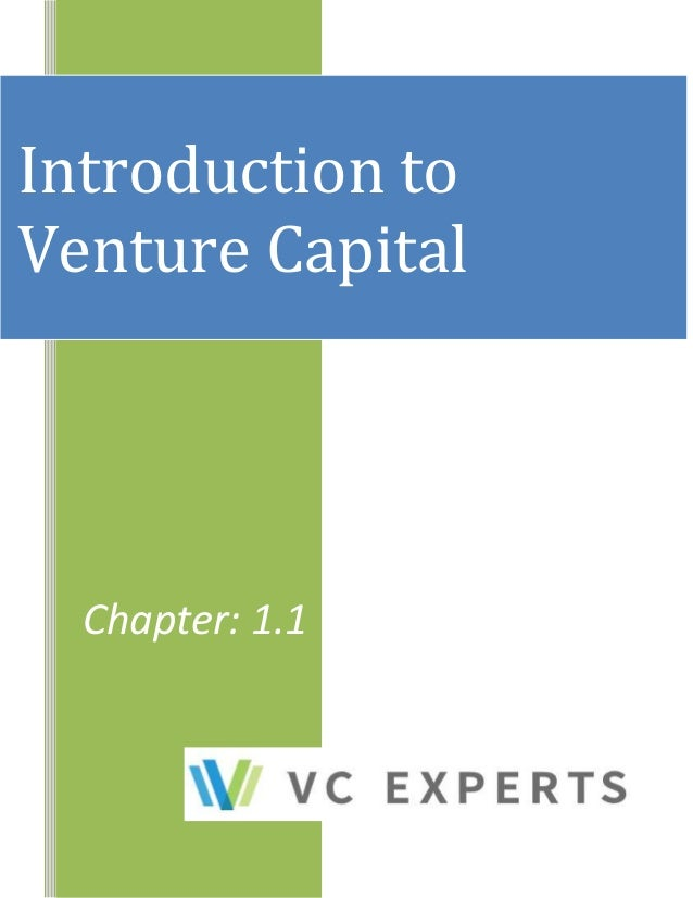 Chapter: 1.1 Introduction to Venture Capital