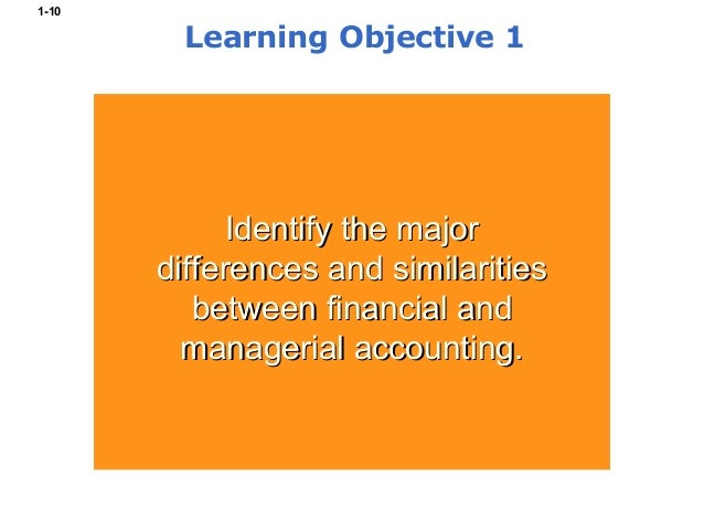 similarities and differences between financial and managerial accounting With in these two different aspects of accounting there are many similarities managerial and financial accounting differences between financial and management.
