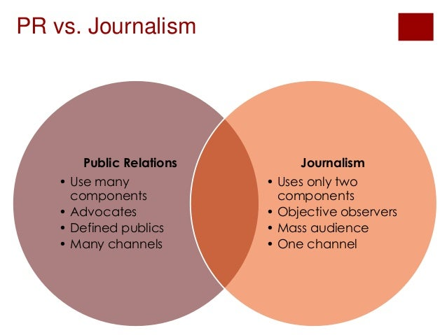 what is the relationship between public relations and journalism