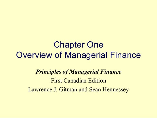 managerial finance gitman 12th edition chapter one Description solution manual for principles of managerial finance 13th edition lawrence j gitman table of content part 1: introduction to managerial finance.