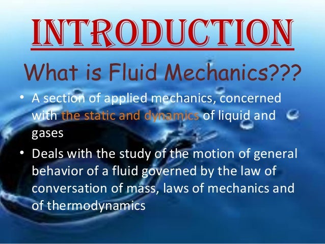 Chapter 1-Introduction fluids Mechanics
