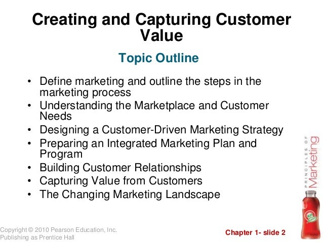 principles of marketing summary chapter 1 View test prep - principles of marketing - exam 1 study guide from mk 331 at athens state chapter 1 marketing – an organizational function and a set of processes.