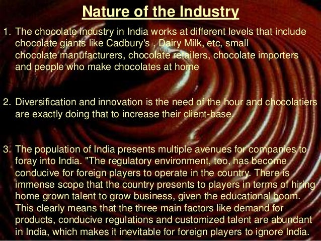 chocolate industry in india