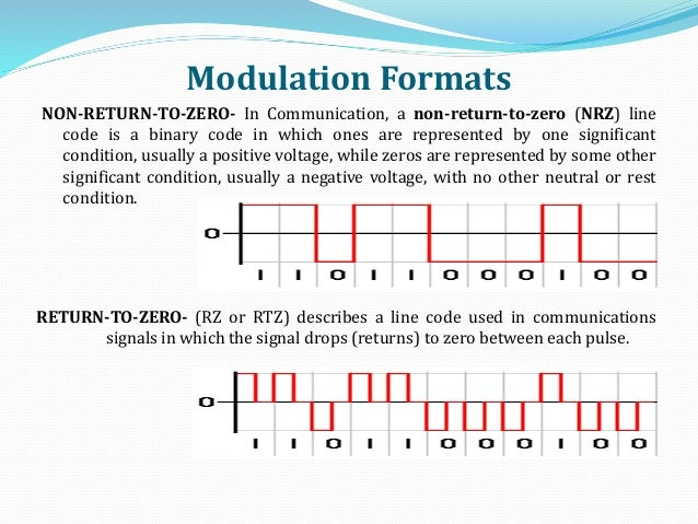 non return to zero encoding Nrz encoding has worst-case one transition per bit-time (assuming the bit-time  interval is closed at the start and open at the end) an nrz.