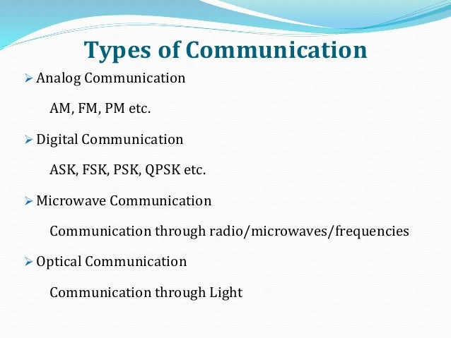 applications of analog communication
