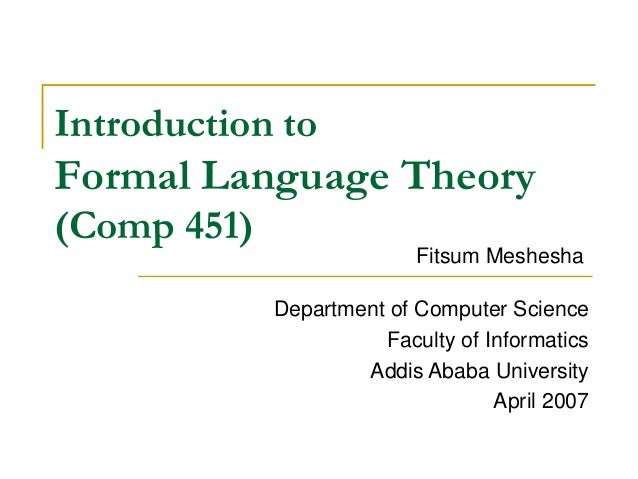 Formal Language And Automata Theory Lecture Notes Pdf Note for