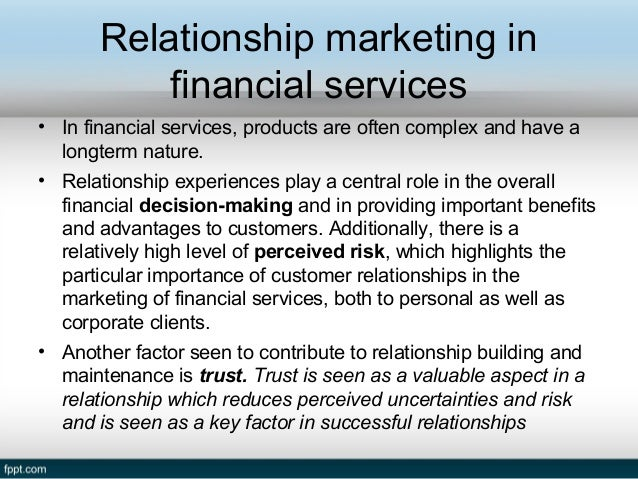 relationship marketing approaches in services marketing This approach is best for service-based businesses such as smaller marketing  firms, brick and mortar small businesses, and solopreneurs like coaches and.