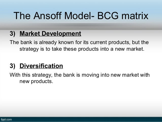 bcg matrix of barclays bank The decision‑making matrix which is based on the principles of bcg matrix is employed to demonstrate the production process of the bank branches the contribution methodologically follows the efficiency‑profitability matrix applied in the article of camanho and dyson (1999) and original approach is enriched by additional.