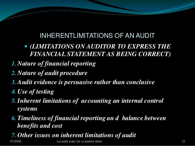 chapter 7 notes auditing and assurance 7-1 chapter 7 quality assurance (qa)  paragraph 107 for guidance on auditing d monitoring is the physical observance of a process to verify compliance with .
