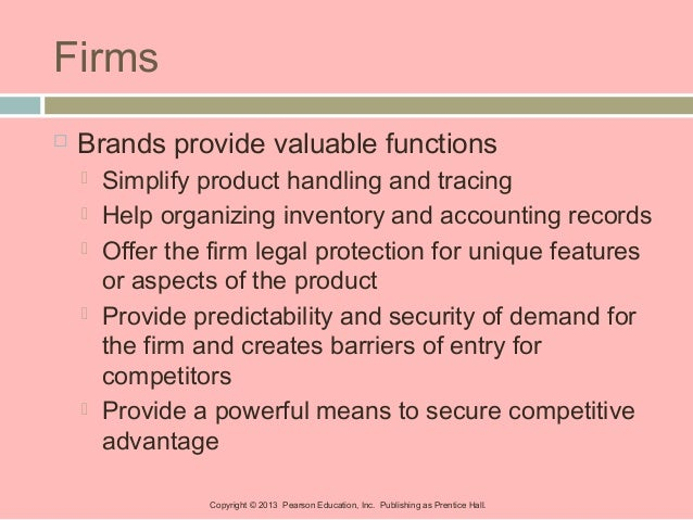 what valuable functions can brands perform for a firm