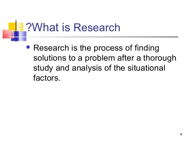 how to make a research problem