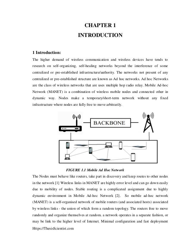 thesis on mobile adhoc networks Vehicular ad hoc networks (vanet) (engineering and simulation of mobile ad hoc routing protocols for vanet on highways and in cities) master's thesis in computer science.