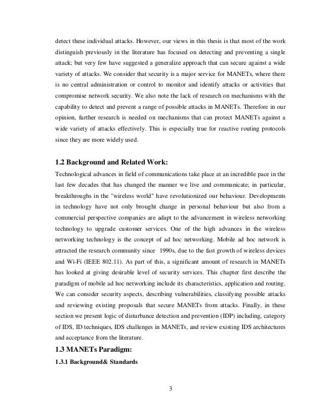 Qos In Manets Thesis