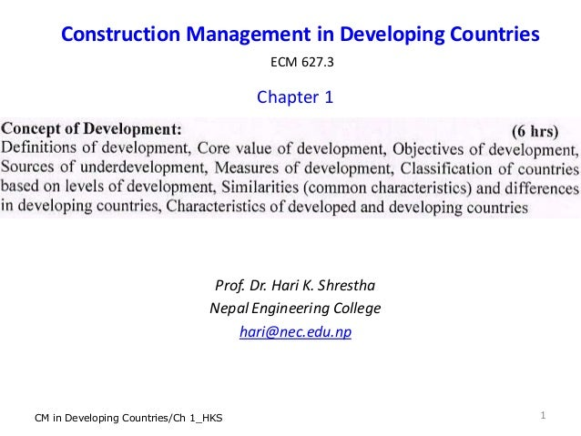 the construction industry in developing countries The behaviour of construction costs and affordability in developing countries: a yemen case study basel sultan queensland university of technology construction industry in the developing countries range between 3-5.